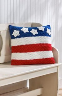 Stars and Stripes Pillow for 4th of July - American Flag