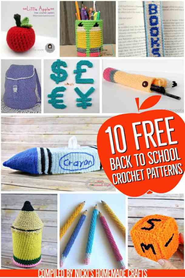 10 Free Crochet Pattern for Back to School