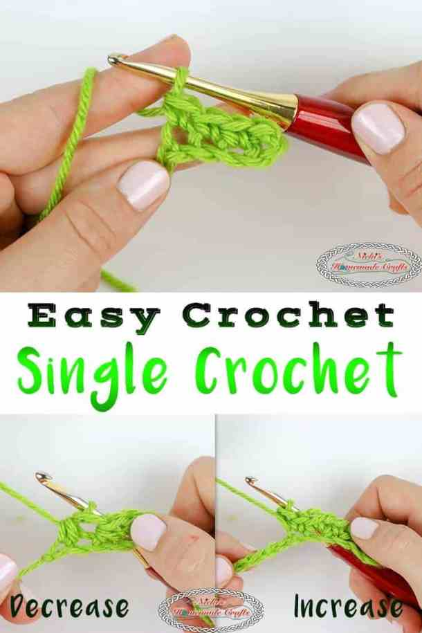 How to crochet a Single Crochet (SC) with increases and decreases