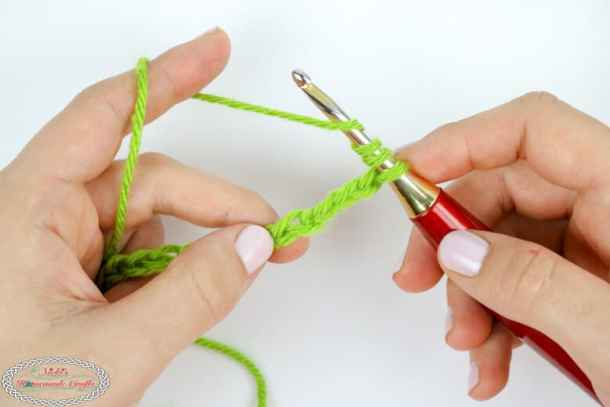 Starting the Double Treble Crochet