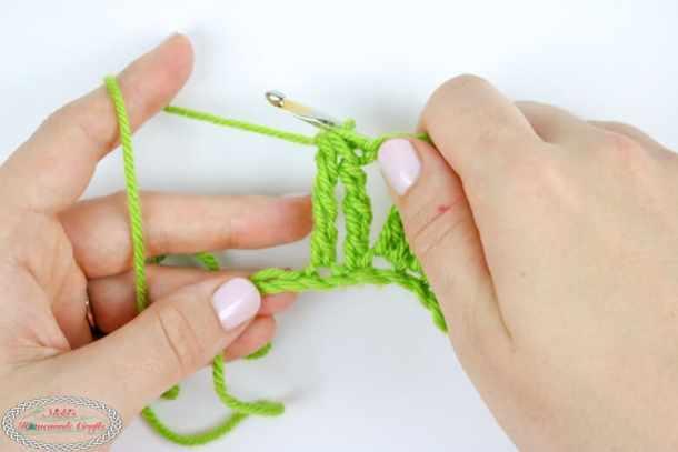 Double Treble Crochet Decrease