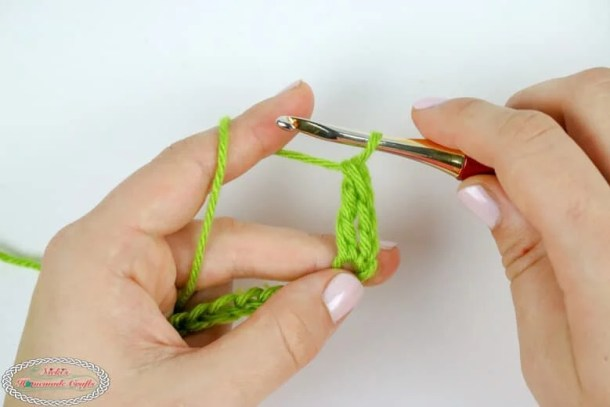 one treble crochet stitch