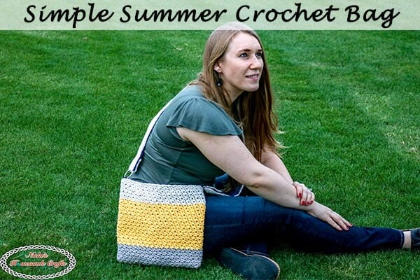 Simple Summer Crochet Bag – Free Pattern