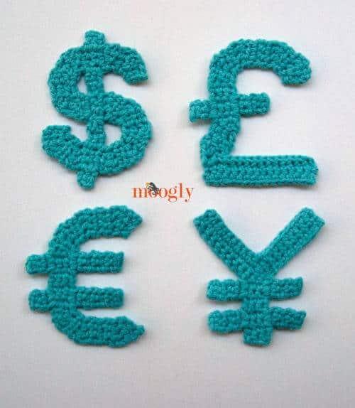 crochet pattern currency back to school