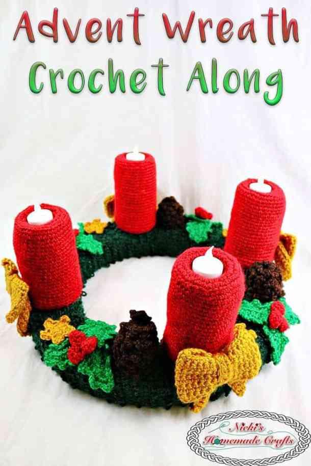 Advent Wreath Free Crochet Along Christmas Diy Idea