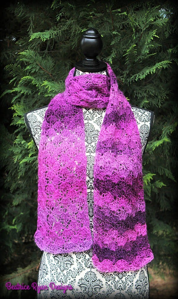 cherished moments scarf free crochet pattern