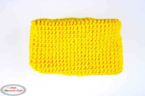 Bottom of Little Crochet Backpack