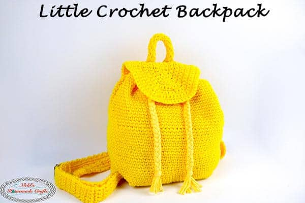 How To Crochet A Little Backpack With Drawstrings Popular Among Teens