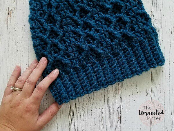honeycomb cabled beanie - most popular free crochet pattern