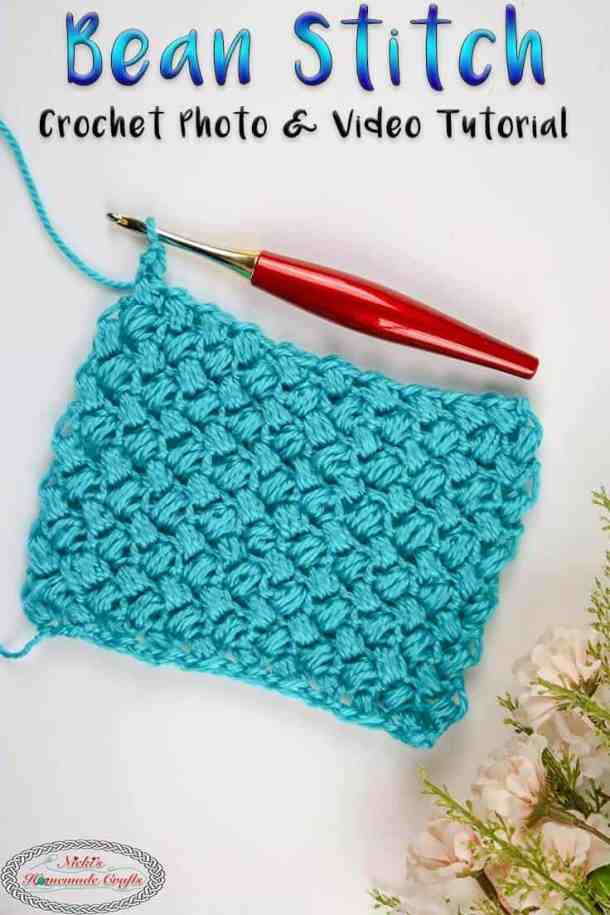How to crochet bean stitch tutorial