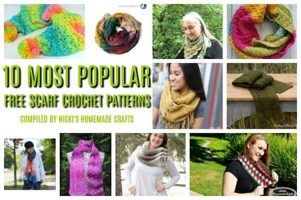 10 Most Popular Free Crochet Scarves Patterns