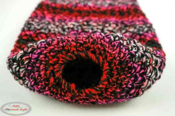 bottom opening of plastic bag holder crochet pattern