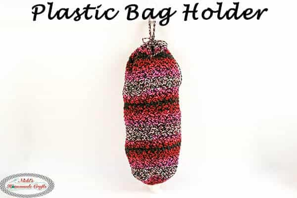 free crochet pattern Plastic Bag Holder