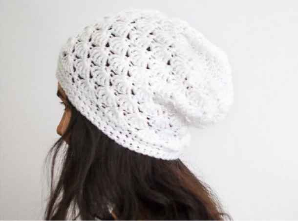 Free Hat Pattern Crochet Shell Slouch