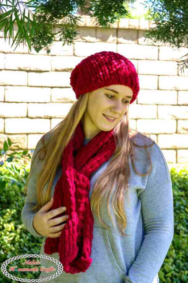 Easy Slouchy Loop Hat and Easy Loop Scarf
