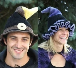 free crochet pattern halloween witch hat wizard hat