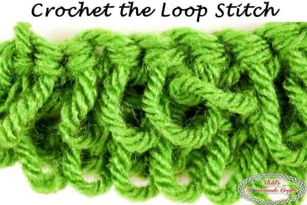 How to crochet the loop stitch - photo and video tutorial