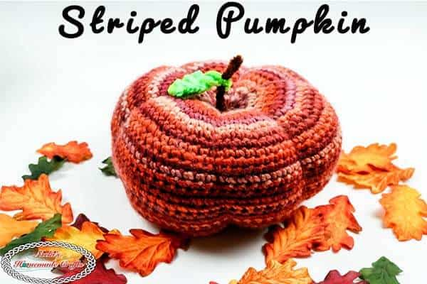 crochet Striped Pumpkin