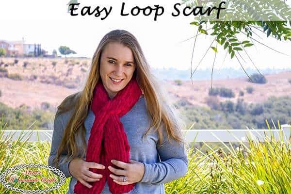 Easy Loop Scarf Free Pattern Using The New Loop Yarn