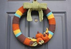 Thanksgiving Crochet Wreath Free Crochet Pattern