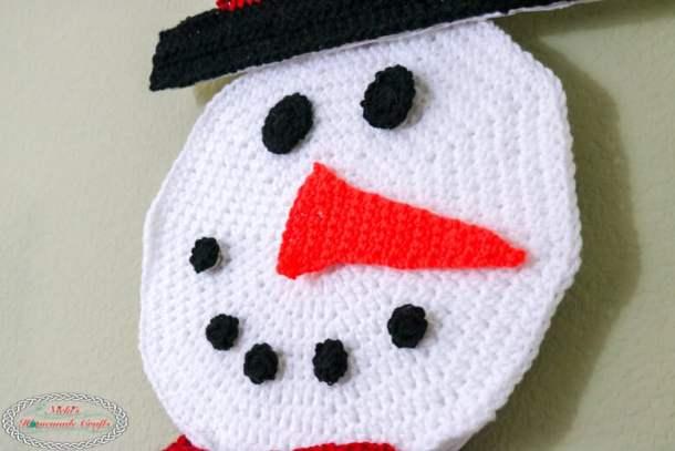 Crochet Snowman Advent Calendar - Head