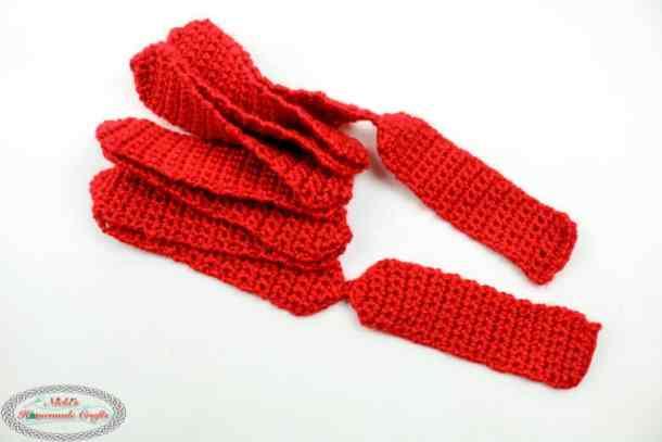 Pull string bow crochet