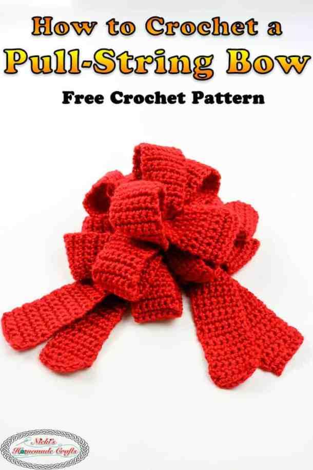 Pull String Bow Free Crochet Pattern