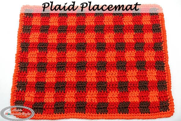 Plaid Placemat - Free Crochet Pattern