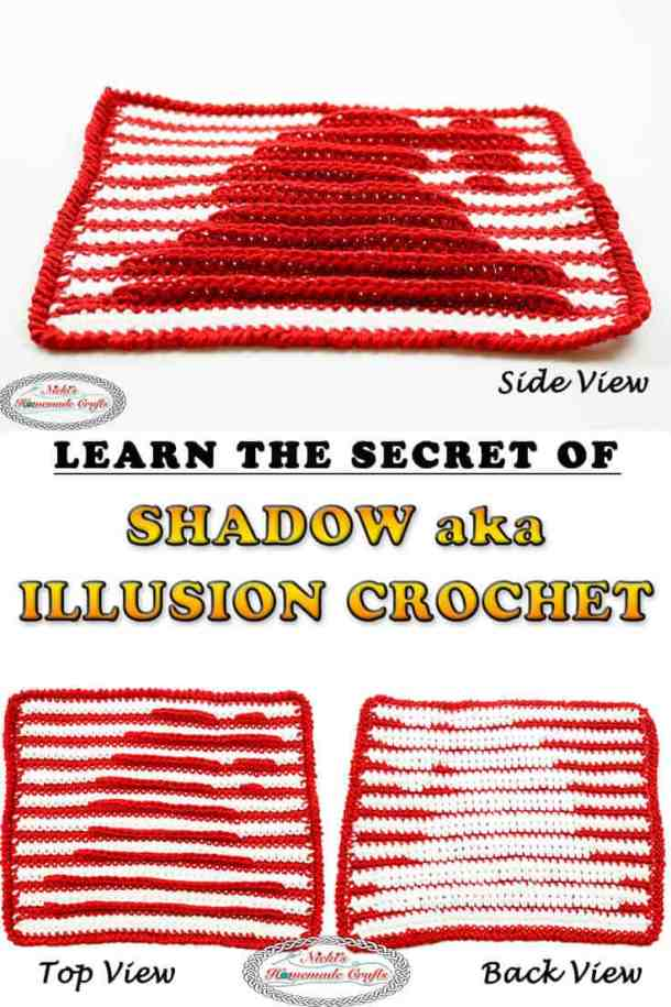 How to Shadow Crochet aka Illusion Crochet