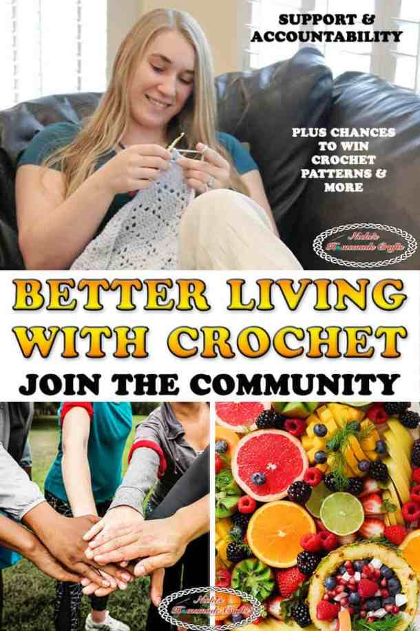 Better Living with Crochet to eat healthy and exercise