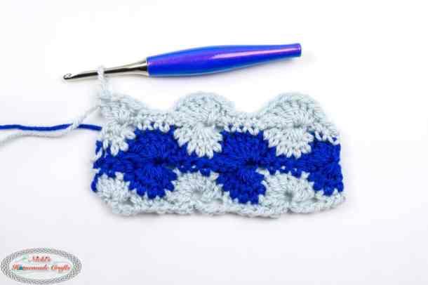 Crochet Catherine's Wheel Stitch Row 5
