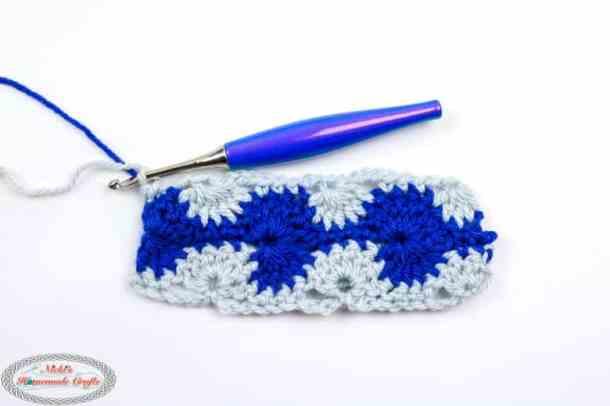 Crochet Catherine's Wheel Stitch Row 4