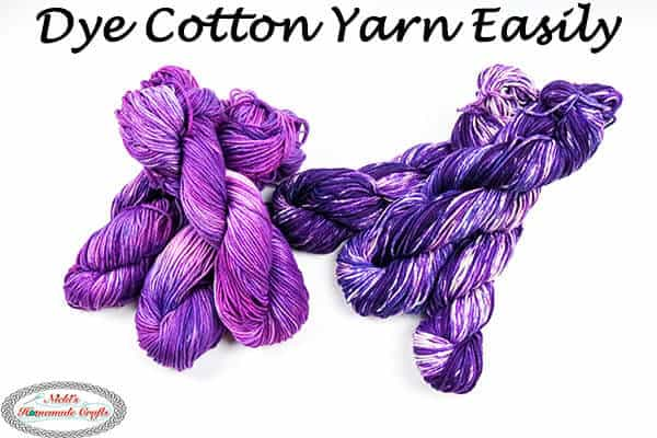 Beautiful Cotton yarn dyed with Rit Dye