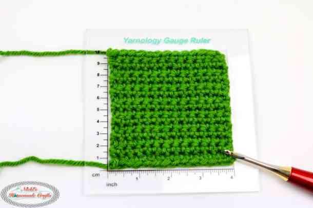 check crochet gauge