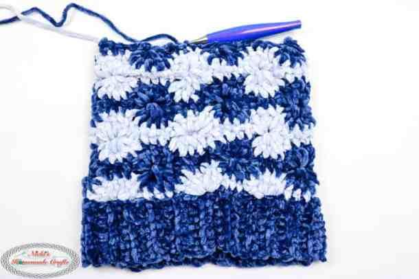 Crocheting the Wheel Hat