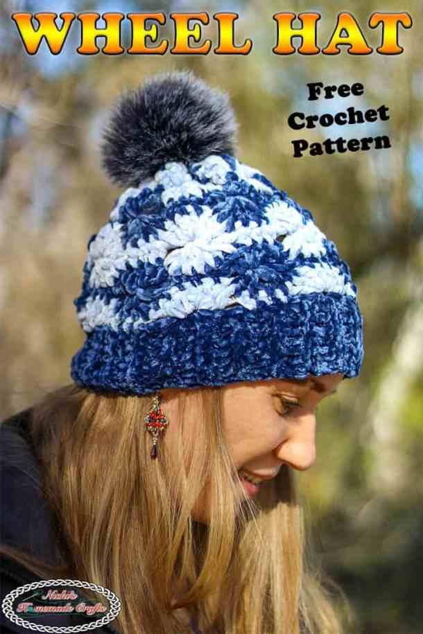 Velvet Wheel Hat - Free Crochet Pattern