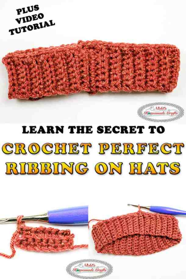 Crochet the Perfect crochet ribbing for hats bottom up tutorial