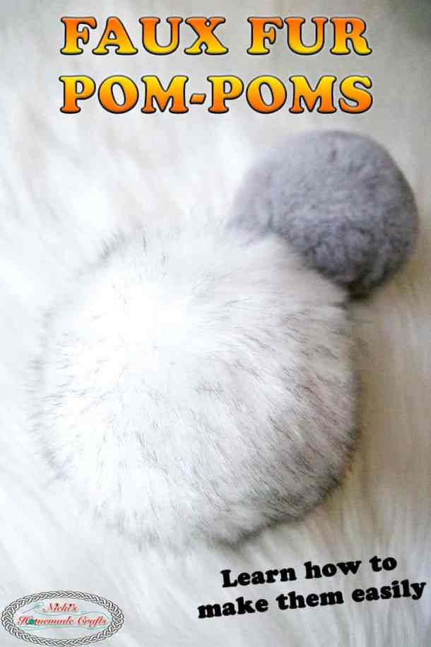 make faux fur pom-poms for hats