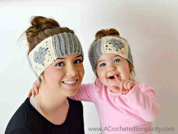 Granny Heart Headwarmer - Free Crochet Pattern - Countdown to Valentine's Day