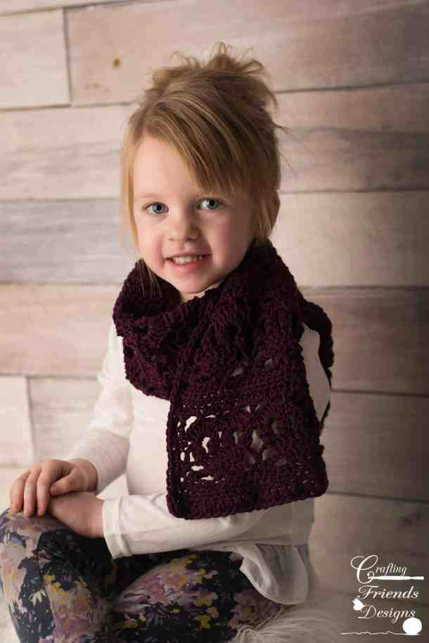 Heartfelt Scarf - free crochet pattern for the Countdown to Valentine's Day