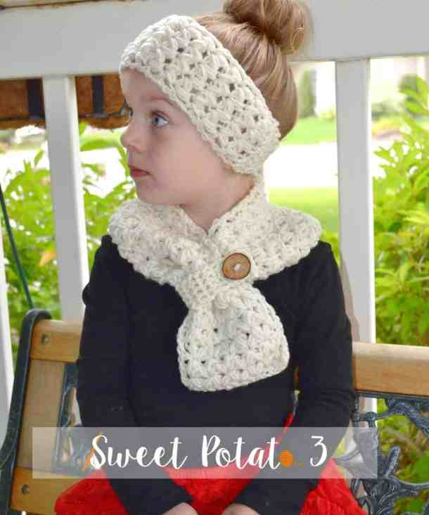 Sweet My Heart headband and Scarf - Free Crochet Pattern - Countdown to valentine's Day