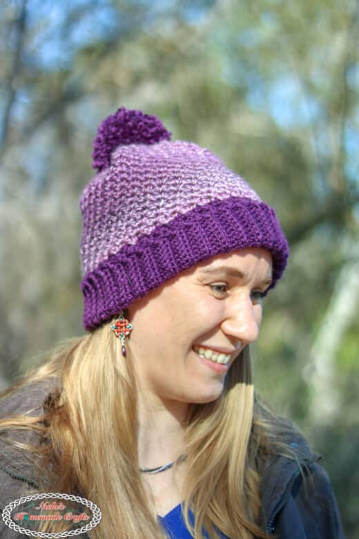 Suzette Hat with fold over brim -crochet pattern
