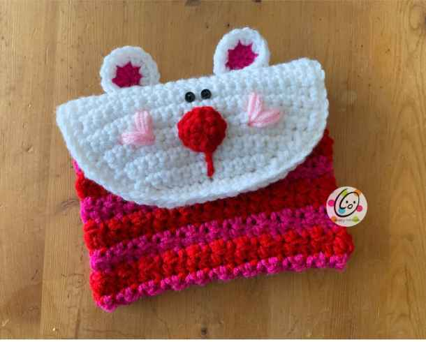 Beary Sweet Pouch - Free Crochet Pattern - Countdown to Valentine's Day