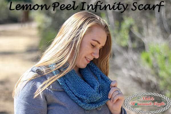 Crochet Lemon Peel Infinity Scarf - Free Pattern