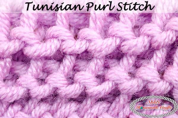 How To Crochet The Tunisian Purl Stitch Easy Photo Video Tutorial