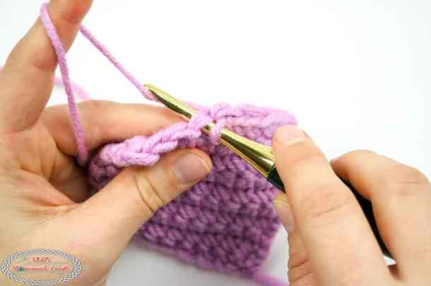 Single Crochet Yarn Under