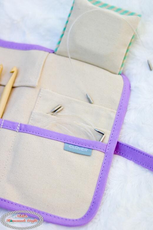 Storage of Clover Interchangeable Tunisian Crochet Hook Set