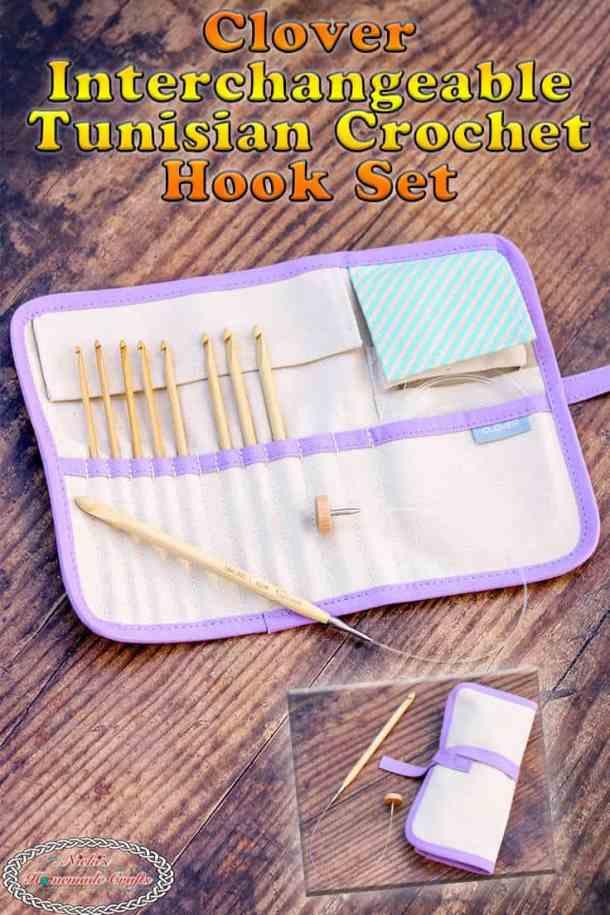 Clover Interchangeable Tunisian Crochet Hook Set - Review