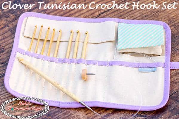 Review Clover Interchangeable Tunisian Crochet Hook Set