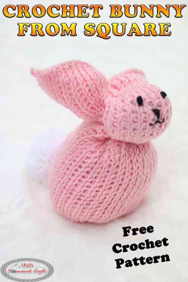 Easy Crochet Bunny from Square - Free Pattern